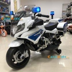 Электромотоцикл BMW R1200RT Police 12V - 212 (колеса резина, музыка, световые эффекты)