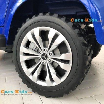 Электромобиль Mercedes-Benz X-Class 4WD XMX606 синий ( 2х местный, полный привод, резина, кожа, пульт, музыка)